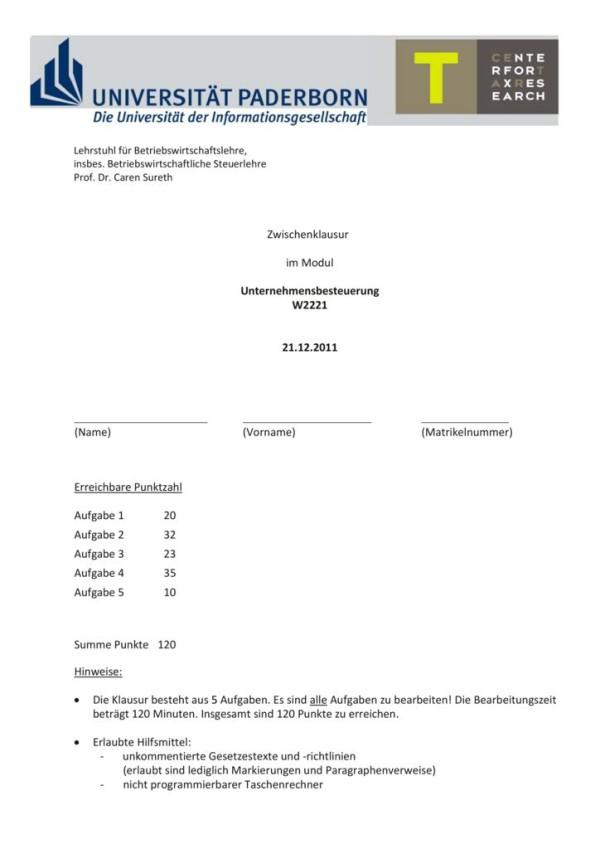 thumbnail of Klausur2_Unternehmensbesteuerung