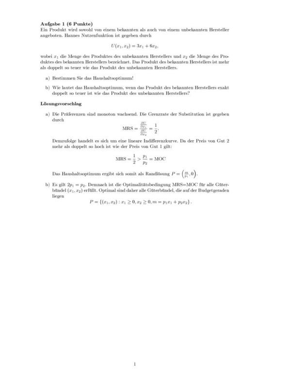 thumbnail of Klausur3_Grundzüge_Mikroökonomie_Lösung