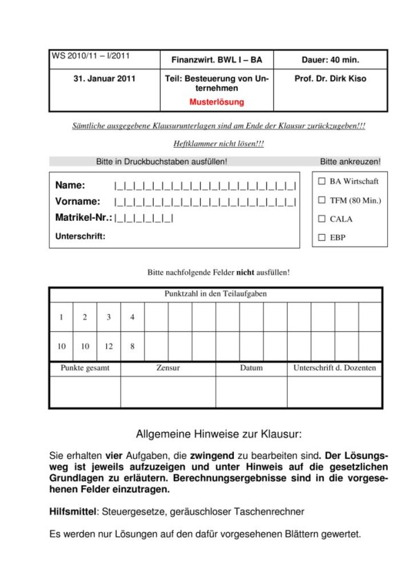 thumbnail of Klausur_Besteuerung_Unternehmen_Lösung