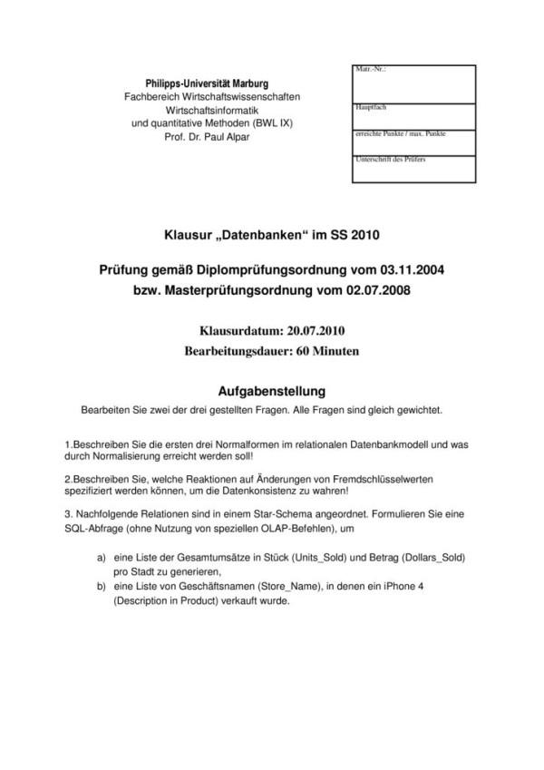 thumbnail of Klausur_Datenbanken_Marburg