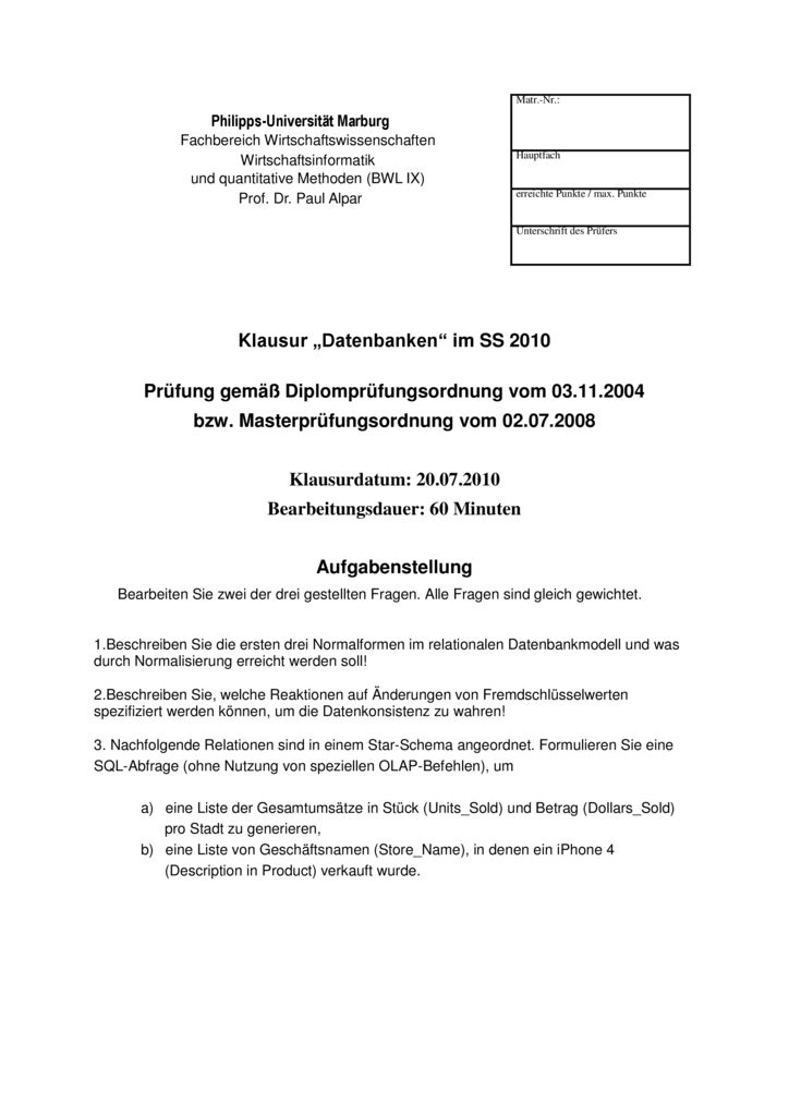 thumbnail of Klausur_Datenbanken_Marburg