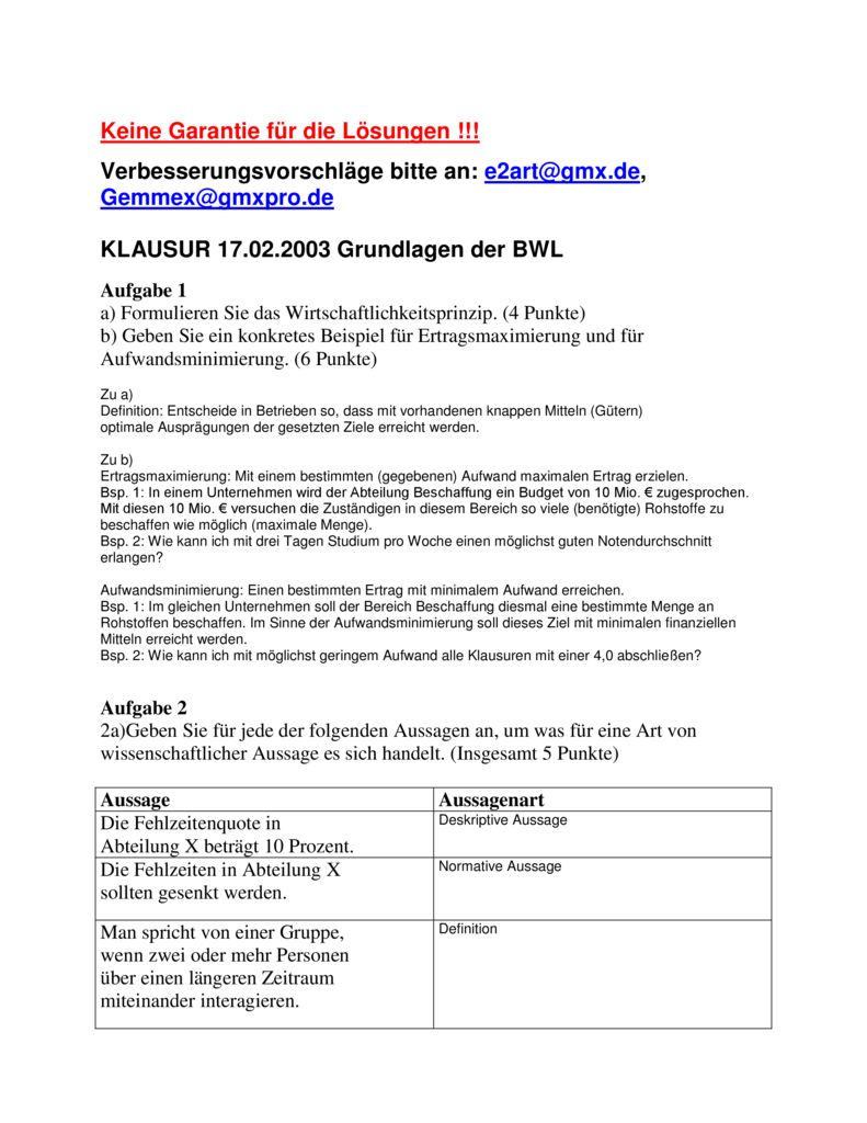 thumbnail of Klausur_Grundlagen_BWL_mitLösung